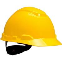3M Hard Hat H-702R, Yellow 4-Point Ratchet Suspension,