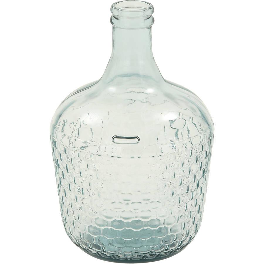 Decmode Glass Wide Bottle Vase, Multi Color