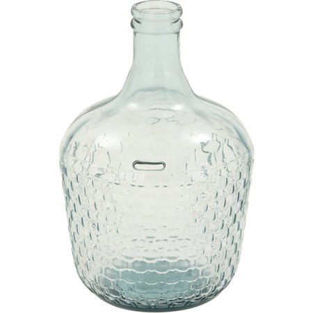 Decmode Glass Wide Bottle Vase, Multi Color ()