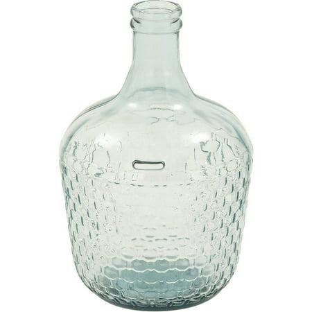 Decmode Glass Wide Bottle Vase Multi Color