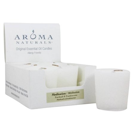 Aroma Naturals - Meditation Naturally Blended Votive Eco-Candle Patchouli & Frankincense - 1 Count