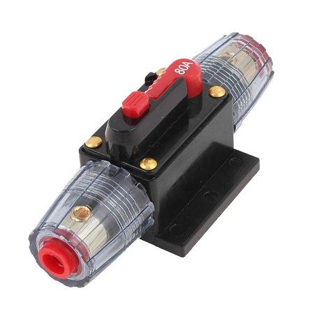 Unique Bargains 80A Vibe Water Resistant Car Amplifier Ammeter  Power AGU Fuse