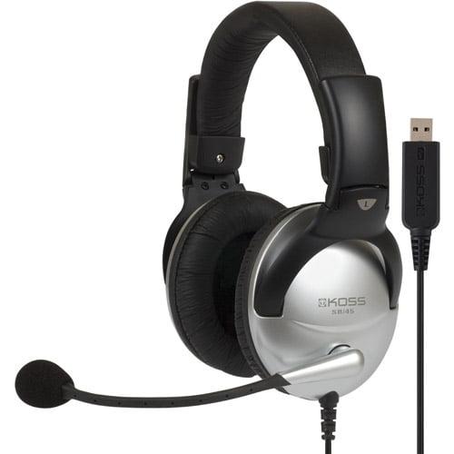 Koss Full-Size USB Communication Headset with Noise Reduction Microphone, SB45 USB