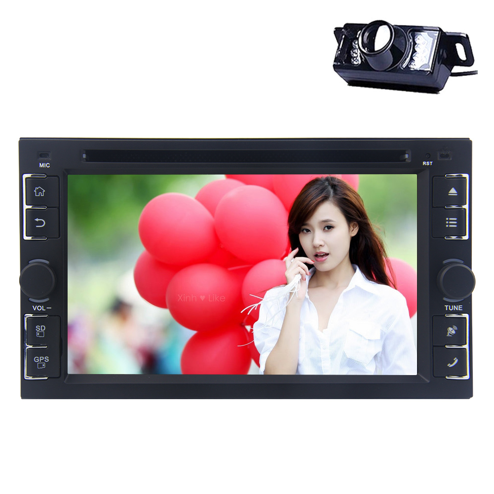 Android 4.4 Double din car dvd player with GPS Navigation Bluetooth audio stereo Quad-core Wifi Hotspots autoradio Free camera FM AM HD Capacitive touch screen car PC