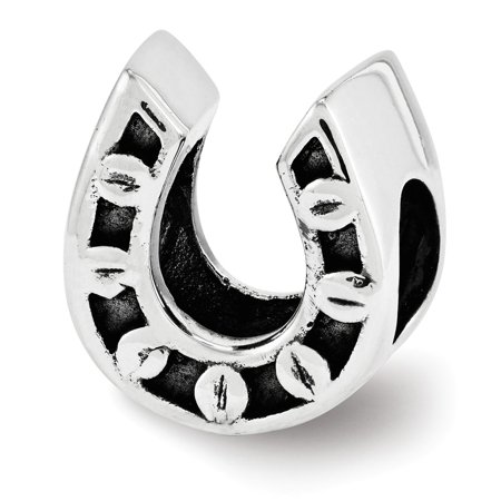 Sterling Silver Reflections Horseshoe Bead (Horseshoe Crafts For Sale)