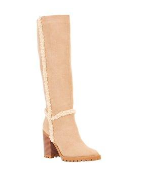 Scoop Rebecca Shearling Trim Lug Sole Boot Women's