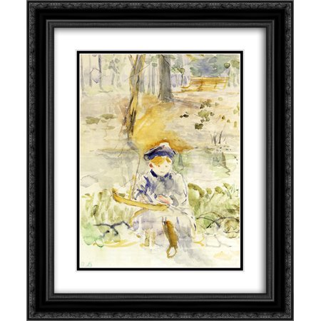 Berthe Morisot 2x Matted 20x24 Black Ornate Framed Art Print 'Julie and Her Boat'