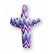 Pocket Cross-Comforting Clay-Purple Chevron (3 )