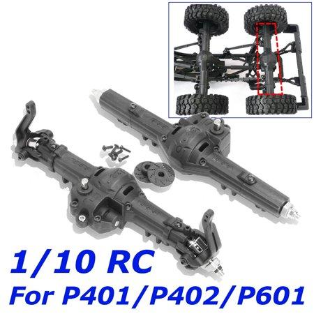 Car Truck Front Rear Gear Box Set for 1/10 Axle HG P401/P402/P601 Crawler (Rear Power Truck Set)