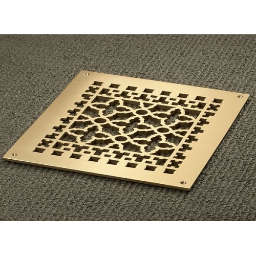 """Reggio Registers 1012-BH Scroll Series 10"""" x 8"""" Grille with Mounting Holes"""