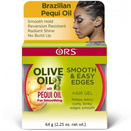 - 3 Pack - ORS Olive Oil Smooth & Easy Edges Hair Gel with Pequi Oil 2.25 oz