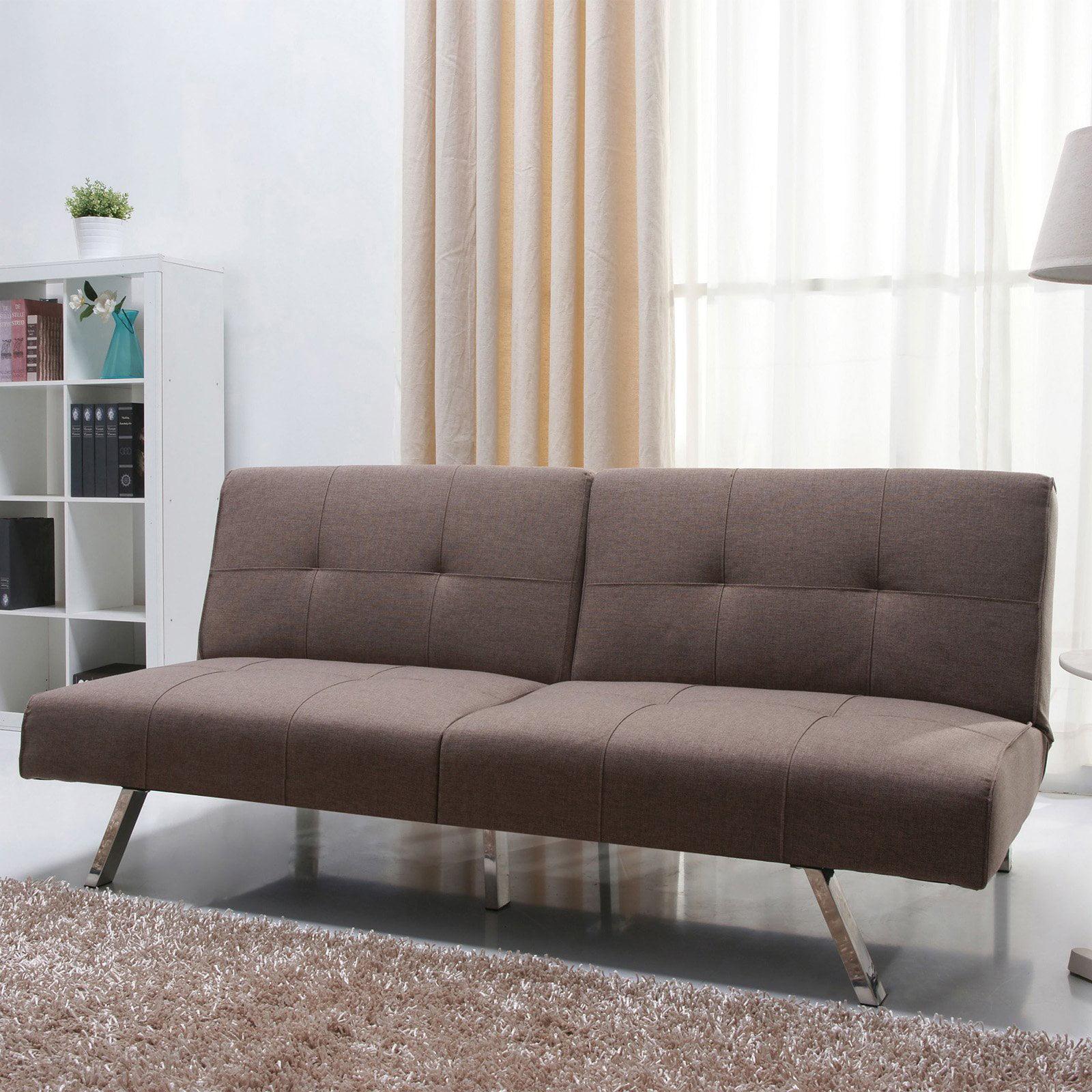 gold sparrow victorville foldable fabric futon sofa - walmart