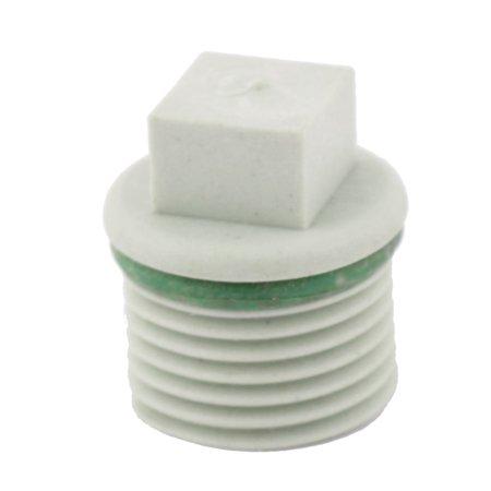 Home Kitchen PVC Water Stopper Hose Tube Insert Pipe Fittings Plug Light Gray (Kitchen Pride)