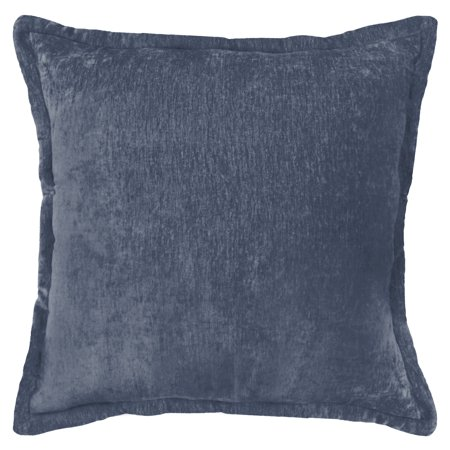 Better Homes and Gardens, Navy/Teal Chenille Pillow ()