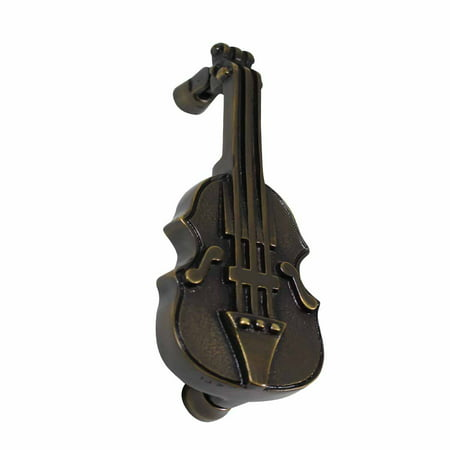 Antique Brass Finish Door Knocker (Antique Door Knocker Brass Vintage Antique Door Hardware Violin Door Knocker 6.5)