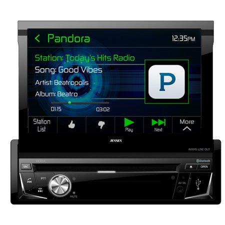 """Jensen VX3014 7"""" Flip-up A V Receiver w  DVD, Bluetooth, & USB by"""
