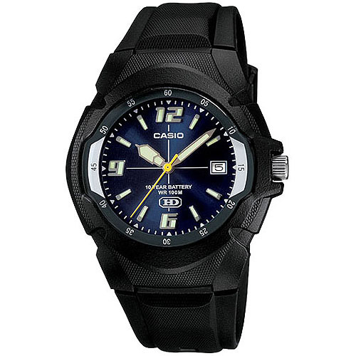 Casio Men's Core MW600F-2AV Black Resin Quartz Watch