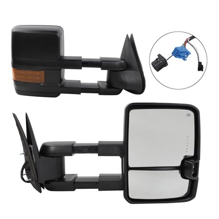 Ktaxon Design Power Heated Turn Signal Towing Mirrors For 03-06 Chevy Silverado Pair - image 1 de 7