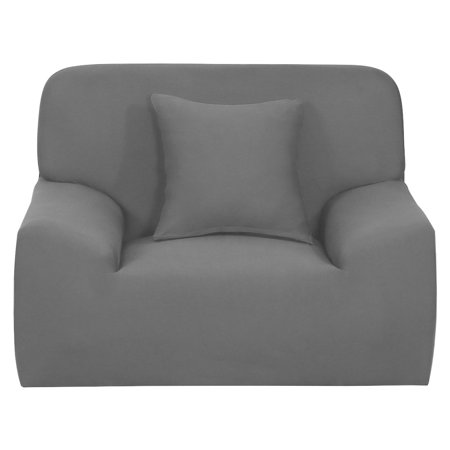 Universal Fit Stretch Chair Loveseat Couch Sofa Cover Slipcovers Gray ()