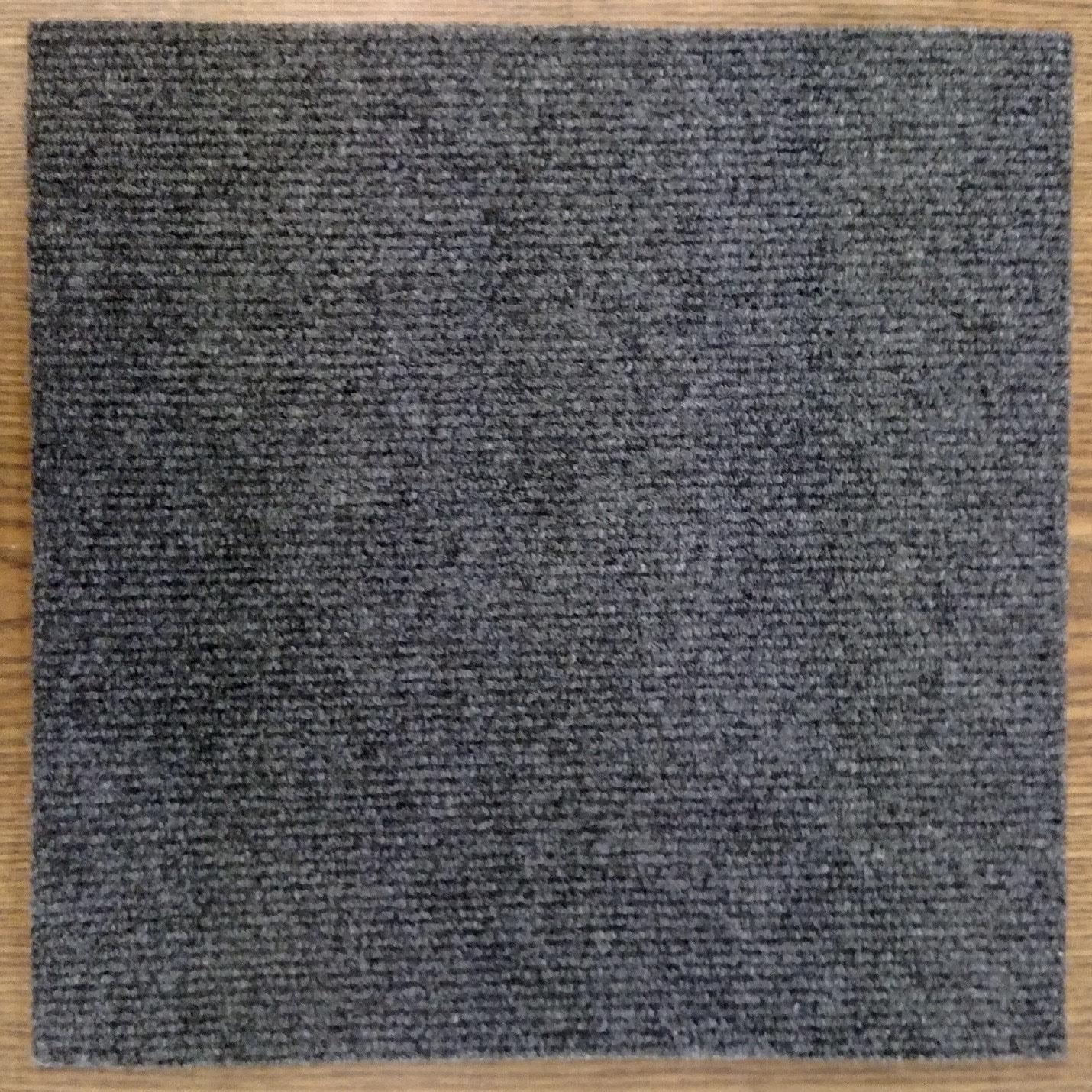 Homeworx Peel and Stick 144 sq. ft. Charcoal Grey Carpet Tiles