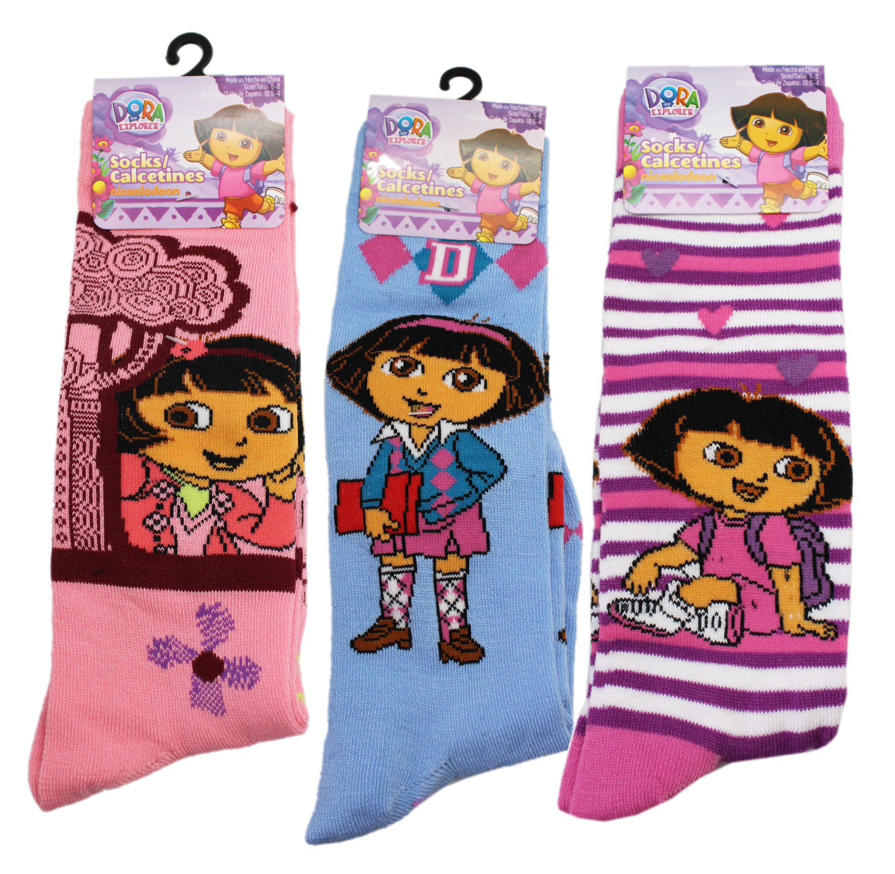 CLEARANCE PRICE DORA THE EXPLORER SOCKS 1 Pair Fits Age 4 to 8 yrs