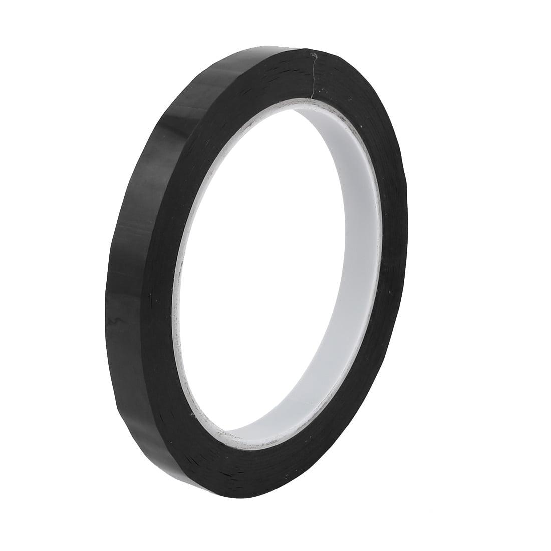2pcs 10mm Width 66M Length Single-side Position Sign Sticker Marking Tape Black - image 1 de 3