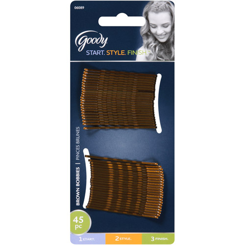 Goody Bobby Pins Brown 06089 45 Count Walmart Com