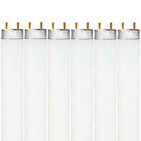 Luxrite F32T8/765 32W 48 Inch T8 Fluorescent Tube Light Bulb, 6500K Daylight White, 2650 Lumens, G13 Medium Bi-Pin Base, LR20735, 6-Pack
