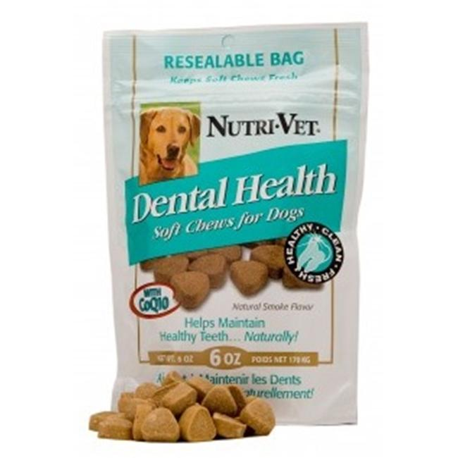 Nutri Vet 99831-1 Dental Health Soft Chews For Dogs - 6 Oz