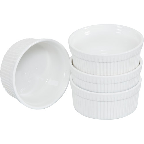 "10 Strawberry Street Whittier 5"" Ramekin, White, Set of 4 by Generic"