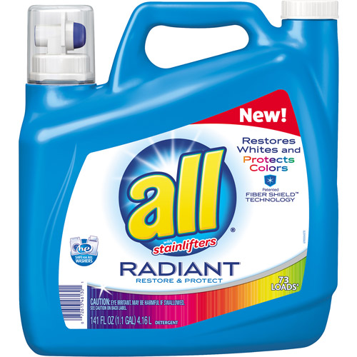 all with Stainlifters Radiant Restore & Protect Liquid Laundry Detergent, 73 loads, 141 fl oz