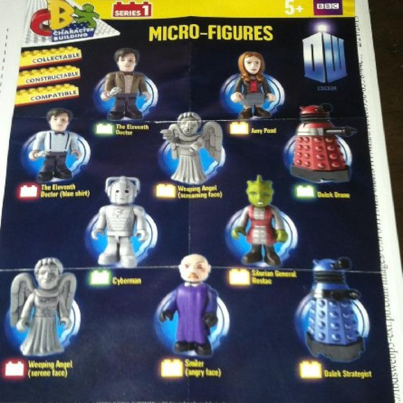 Doctor Who - Micro-Figures Complete Set of 10 Figures (Se...