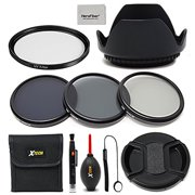 67mm Lens Accessories Kit w/ 67mm ND Filters Kit, 67mm Lens Hood, 67mm UV Filter, 67mm Lens Cap + Camera cleaning kit for all Lense and Cameras with a 67mm Lens thread.