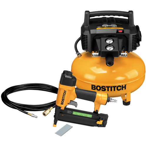 Factory-Reconditioned Bostitch BTFP1KIT-R 18-Gauge Brad Nailer and Compressor Combo Kit... by Bostitch