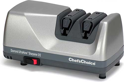 Click here to buy Chef's Choice 312 Platinum Electric Knife Sharpener 0312006 by Chefs Choice.