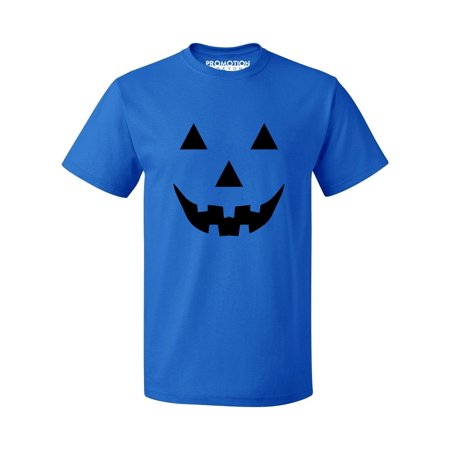 P&B Jack O Lantern Pumpkin Face Funny Halloween Men's T-shirt, XL, Royal - Draw Halloween Pumpkin Face