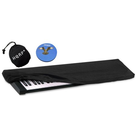 HQRP Elastic Dust Cover w/ Bag for Korg SV-1 BK 73 / SV-1 73 Reverse Key / Pa4X / Pa3X / Pa3X Le Electronic Keyboard Digital Piano + HQRP Coaster - image 2 de 4