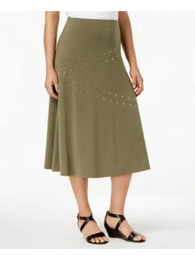 845fb314b Product Image JM Collection Embellished A-Line Skirt Olive Sprig S