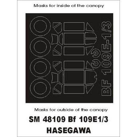 Montex Mini Mask 1:48 Bf-109 E 3 for Hasegawa SprayingStencil #SM48109