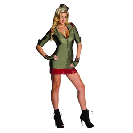 Women's  Adult Playboy Bombshell Army Officer Costume](Adult Army Costume)