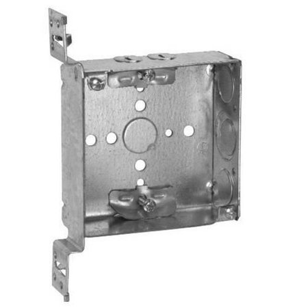 Outlet 22 Overall (Crouse-Hinds TP449 Steel Outlet Box 4 Inch x 4 Inch x 1-1/2 Inch 22 Cubic-Inch)