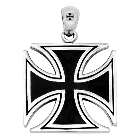Stainless Steel 316L Cross Pendant with three Skulls (Necklace not Included)