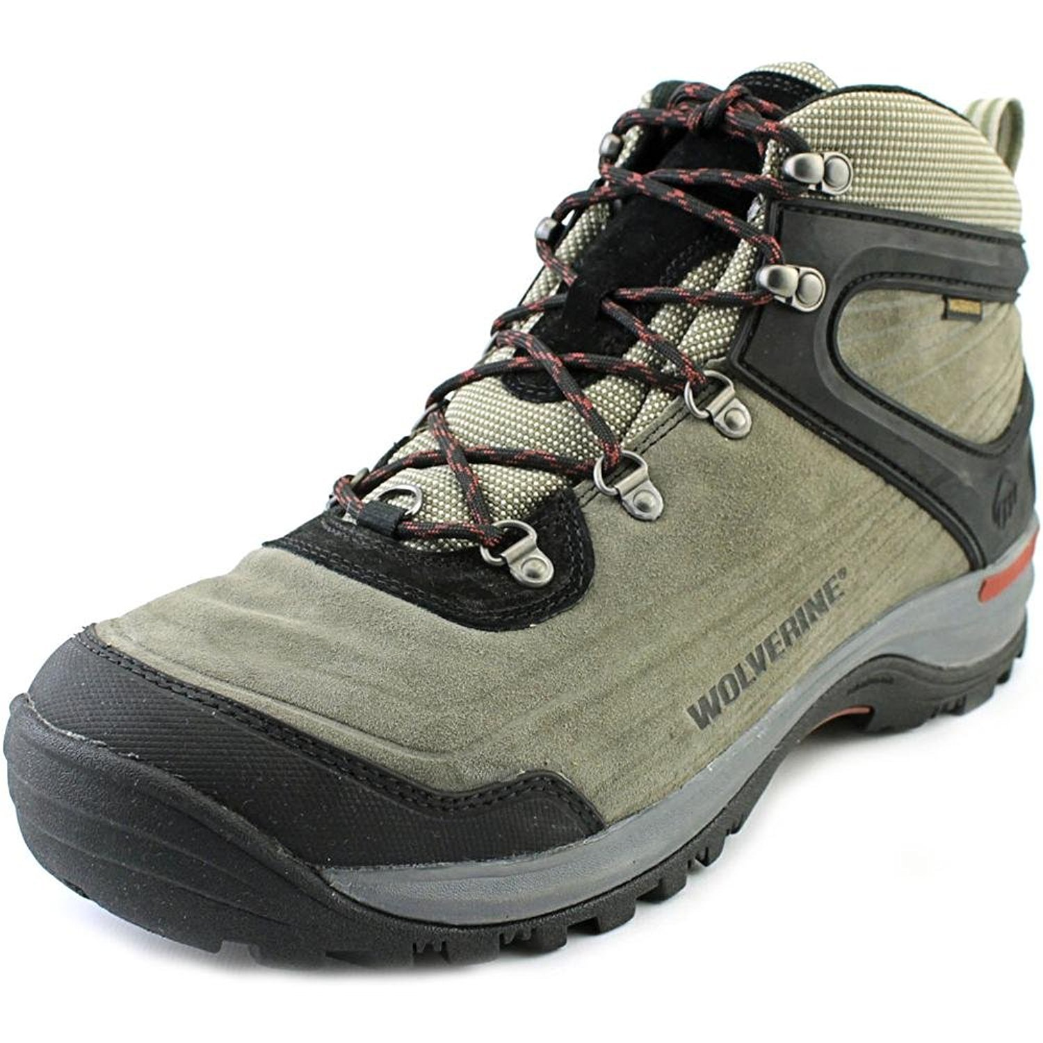 Men's Wolverine Impact Waterproof Suede Hiking Boot (8 EW in Grey)