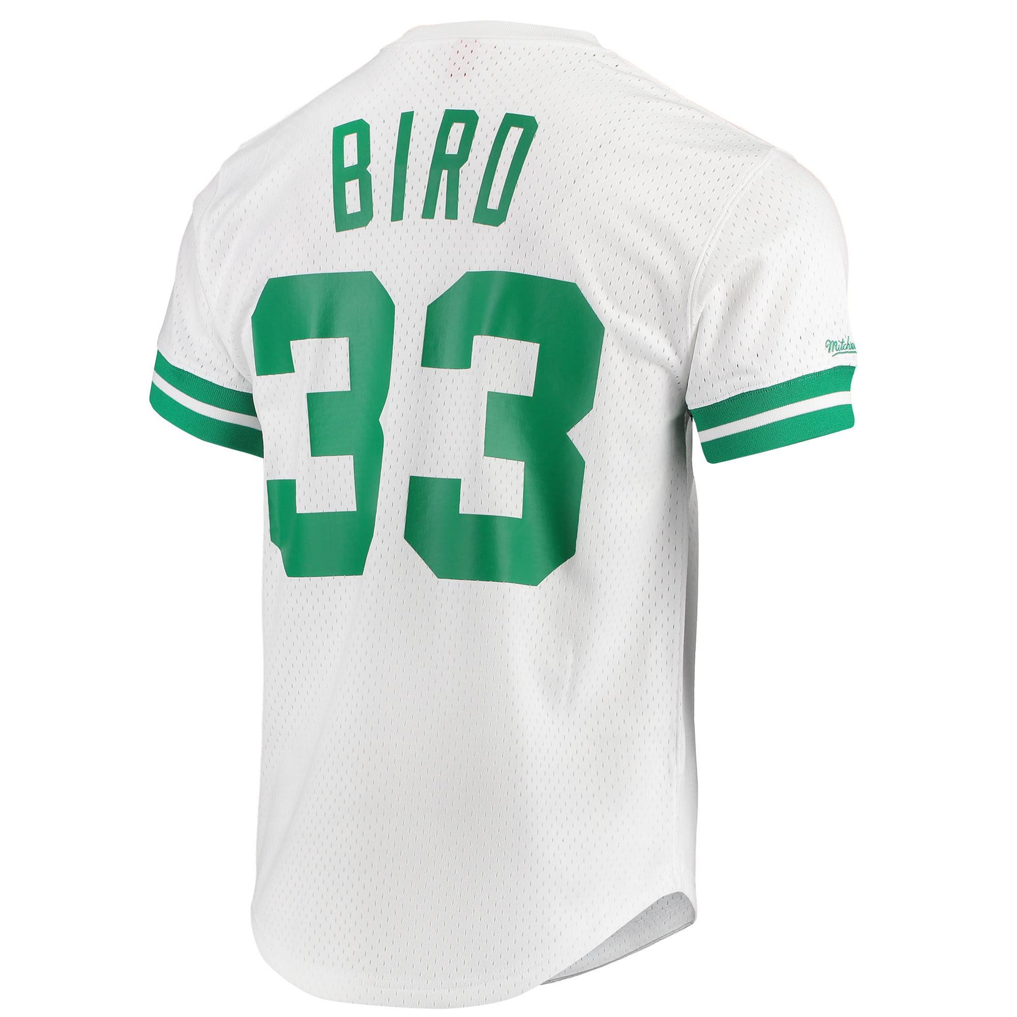 1ffcbb110 Larry Bird Boston Celtics Mitchell & Ness Hardwood Classics Mesh Crew Name  & Number T-Shirt - White - Walmart.com