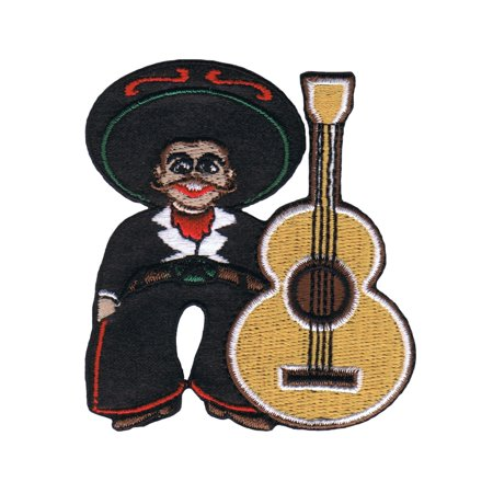 Artist Chuck Wagon Mexican Senor Guitar Patch Mariachi Band Iron On