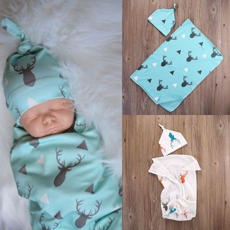 d67d658b22b Toddler Newborn Infant Baby Boy Deer Swaddle Soft Blanket Boy Coming Home  Cotton Bath Towel - Walmart.com
