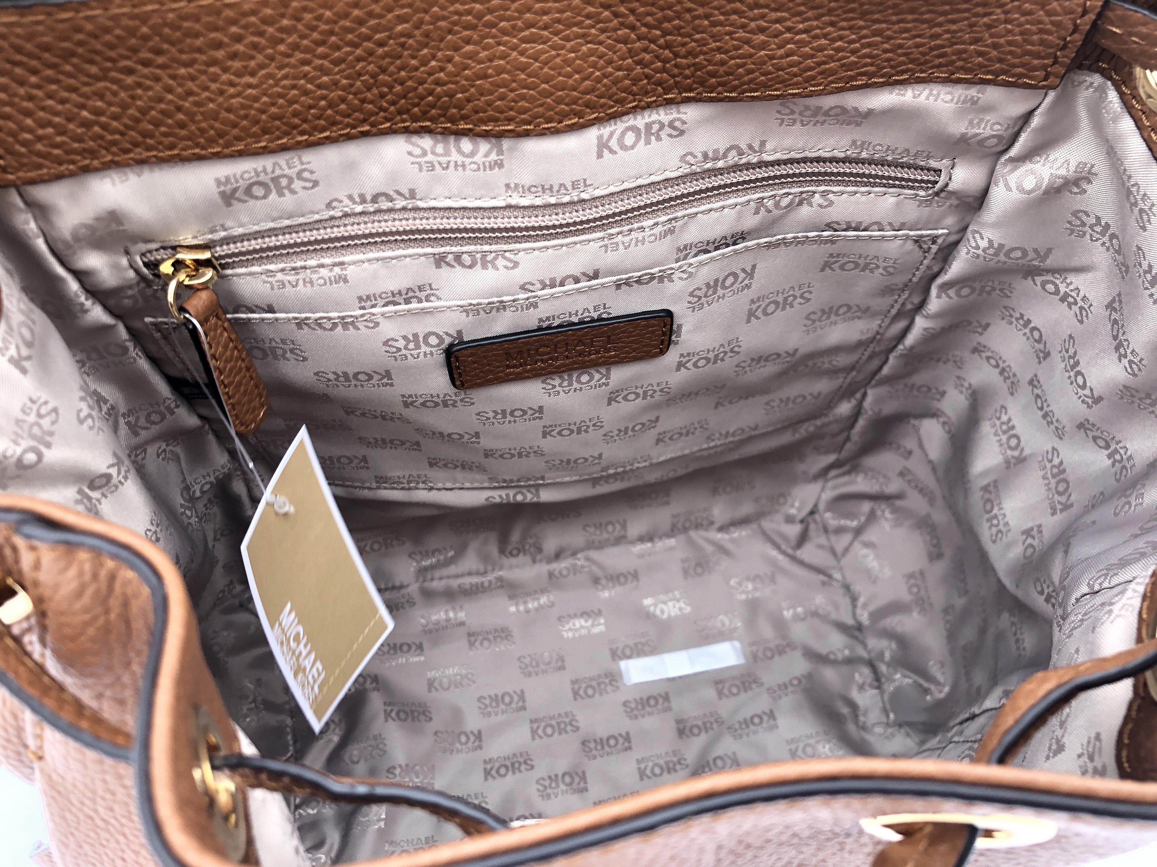 Michael Kors - Michael Kors Riley Large Leather Backpack Luggage Brown  Drawstring Flap Bag - Walmart.com f51ea200d4f8c