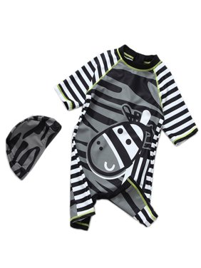76c499cef89 Product Image StylesILove Baby Boy Kids Zebra Costume Swimsuit and Hat (3T)