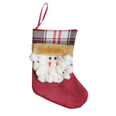3pcs/set Christmas Hanging Stockings Santa Snowman Reindeer Gift Candy Bags Christmas Decoartions Ornaments - image 4 of 7