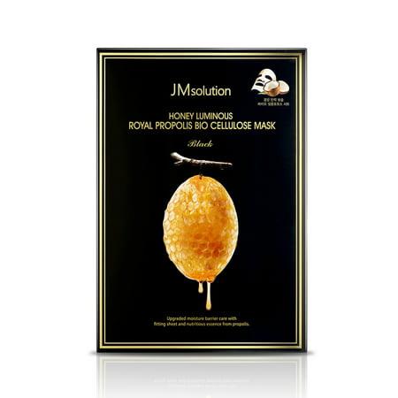 JM solution Honey Luminous Royal Propolis Bio Cellulose Face Mask Black (10